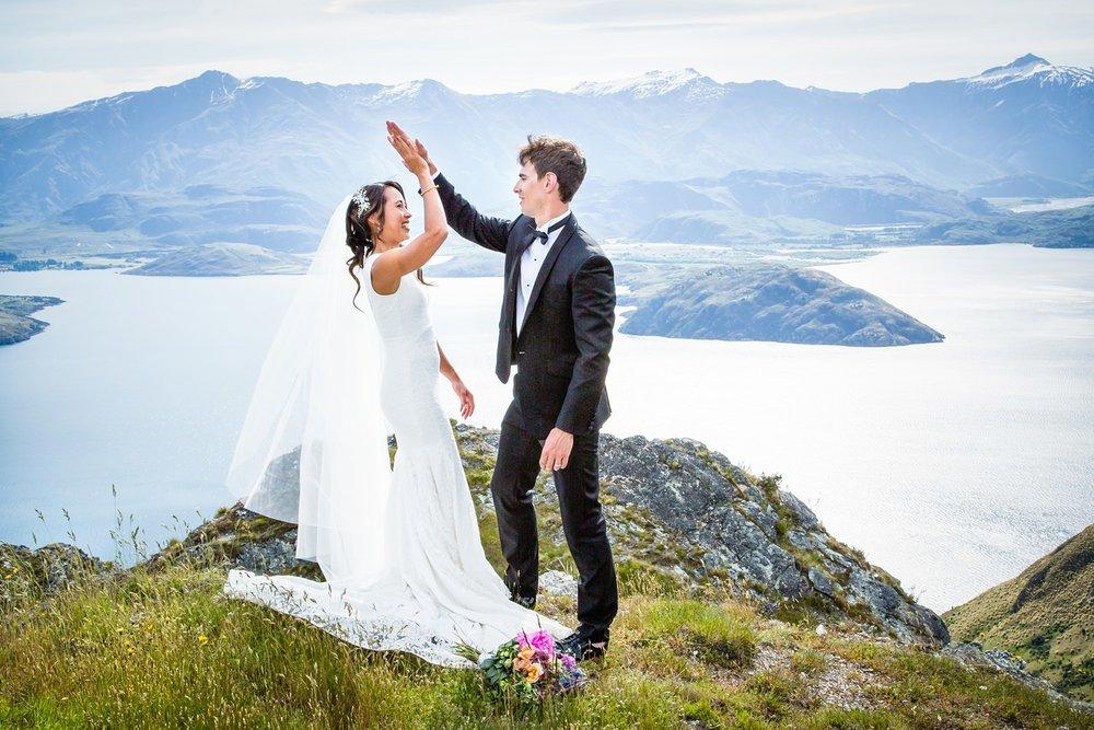 Wanaka Mountain Wedding for Asian Australian couple