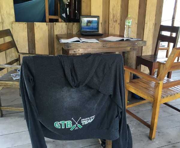 The classroom: Brought my GTB sweater with me as support while I learned all the theory and specifics behind scuba diving.