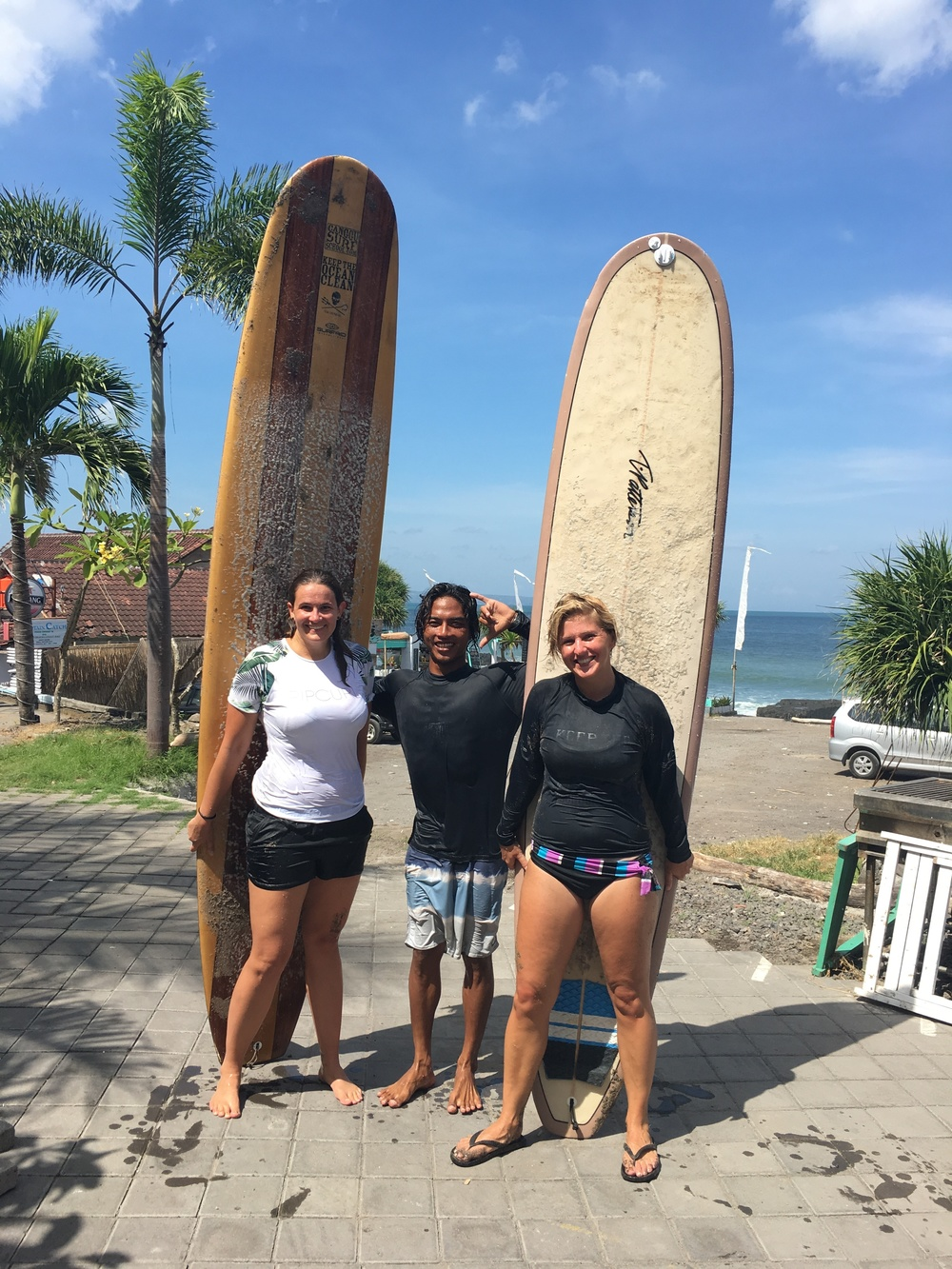 Gucci from Austria, Ngurah, and I after our surf lesson