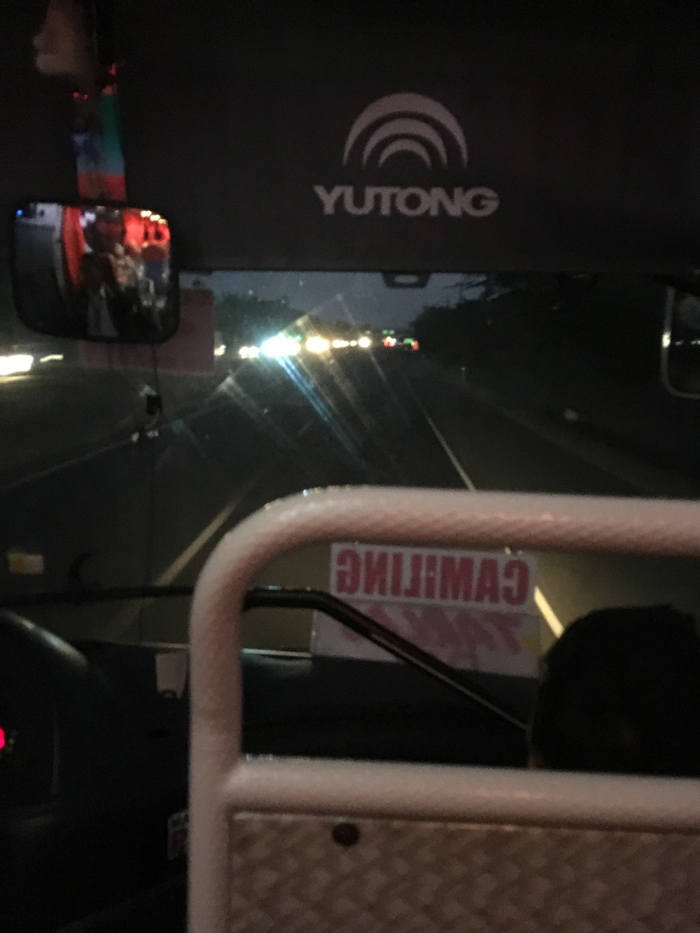 5am - Bus heading north