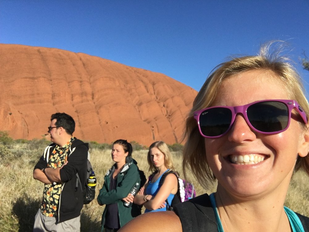 Walking around Uluru