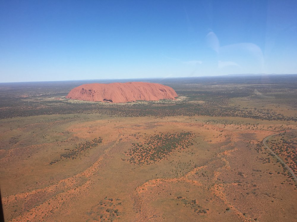 Flying around Uluru