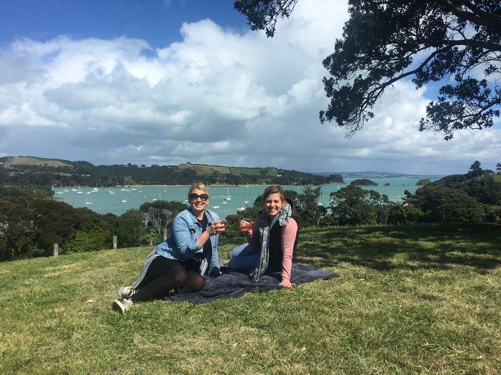 Long-time friend Ange and I on Waiheke
