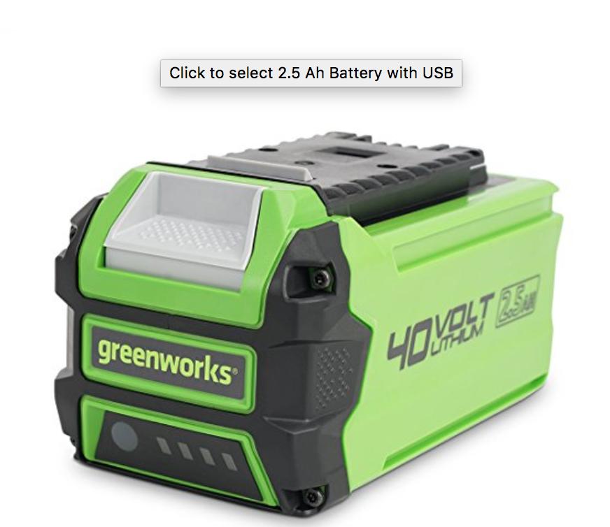 Greenworks Battery - $199.00