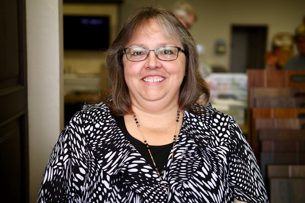Bonnie Gaddis - Bonnie is our Cabinet Designer. We think she is pretty amazing and ALL our clients LOVE her!
