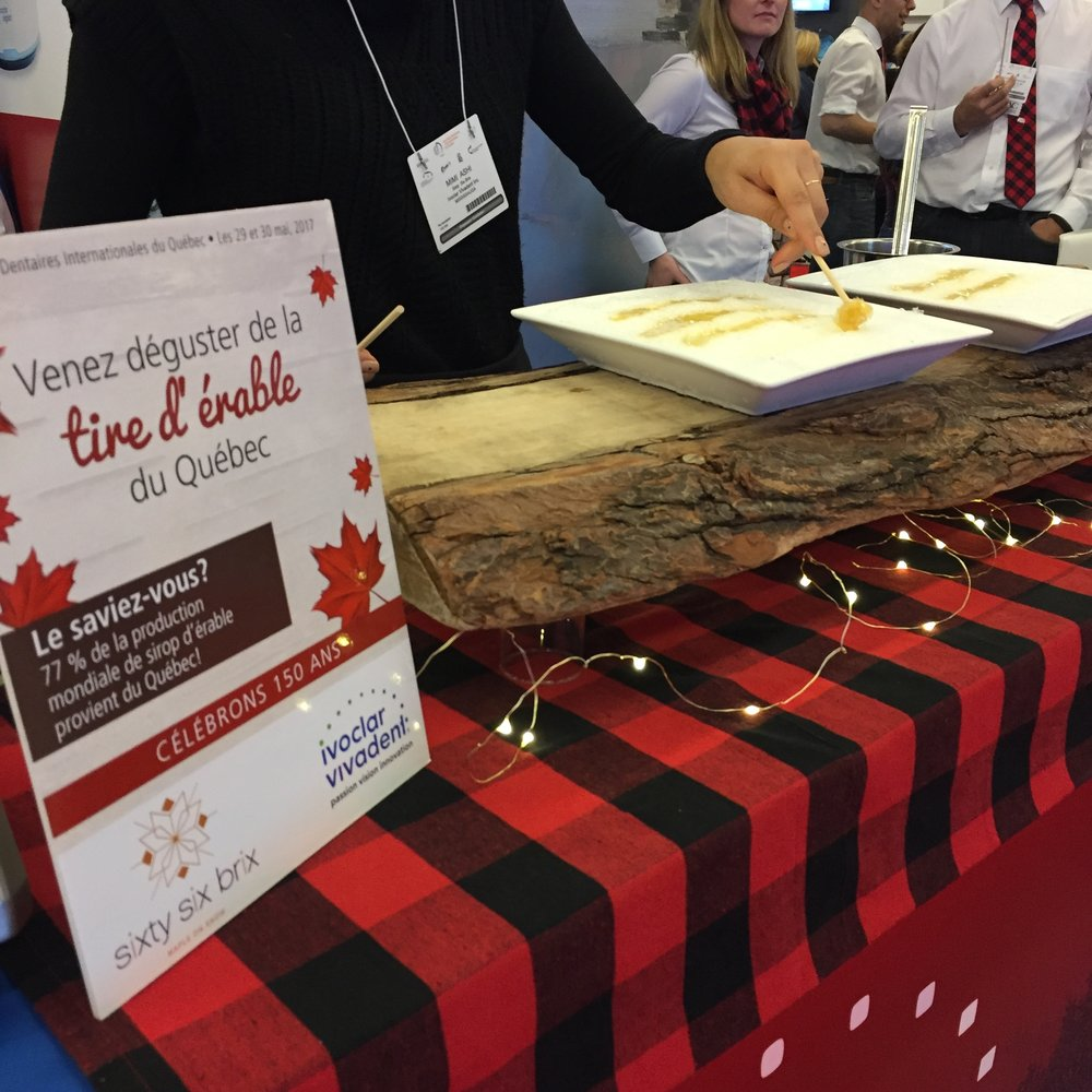 Another successful trade show exhibit, offering Maple Taffy on Snow.
