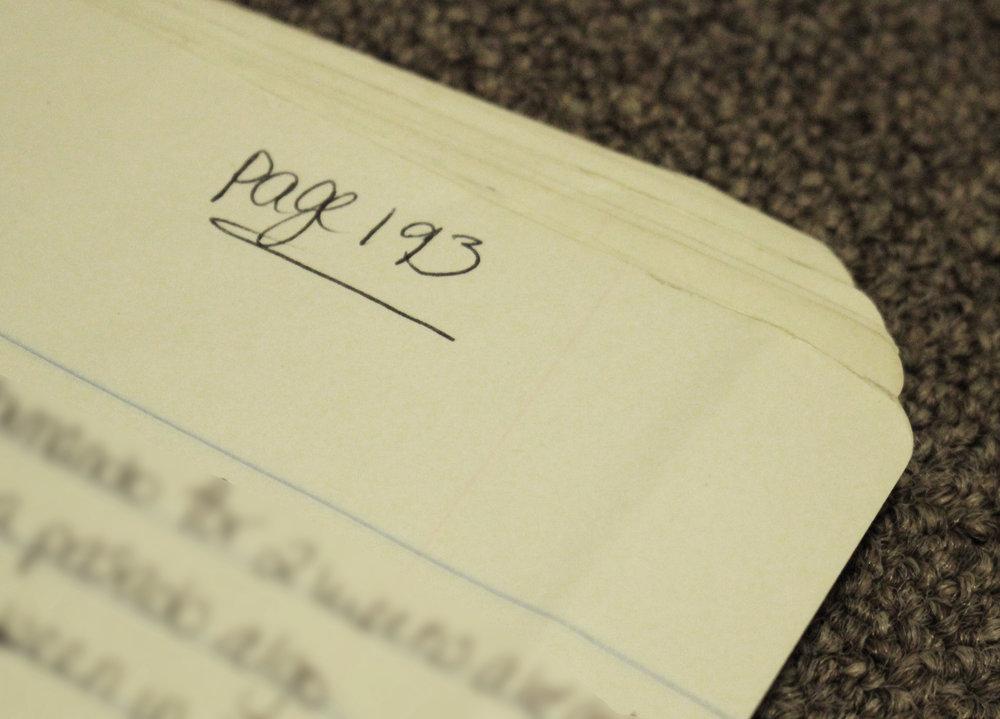 Una de las ultimas paginas de mi guion!