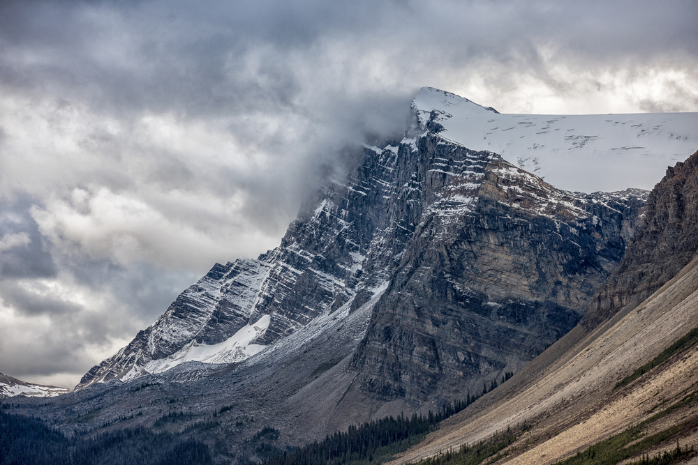 Dramatic Clouds hit the Rockies, Alberta