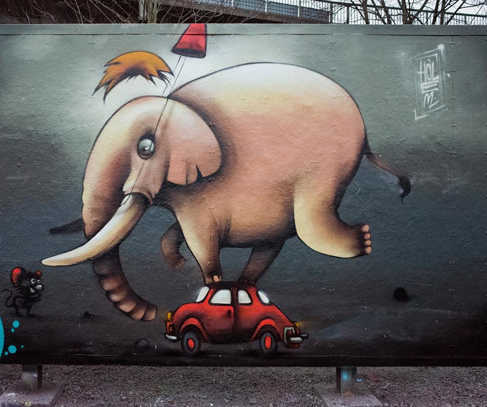 The elephant - Tantolunden parc - Hornstull - 2017
