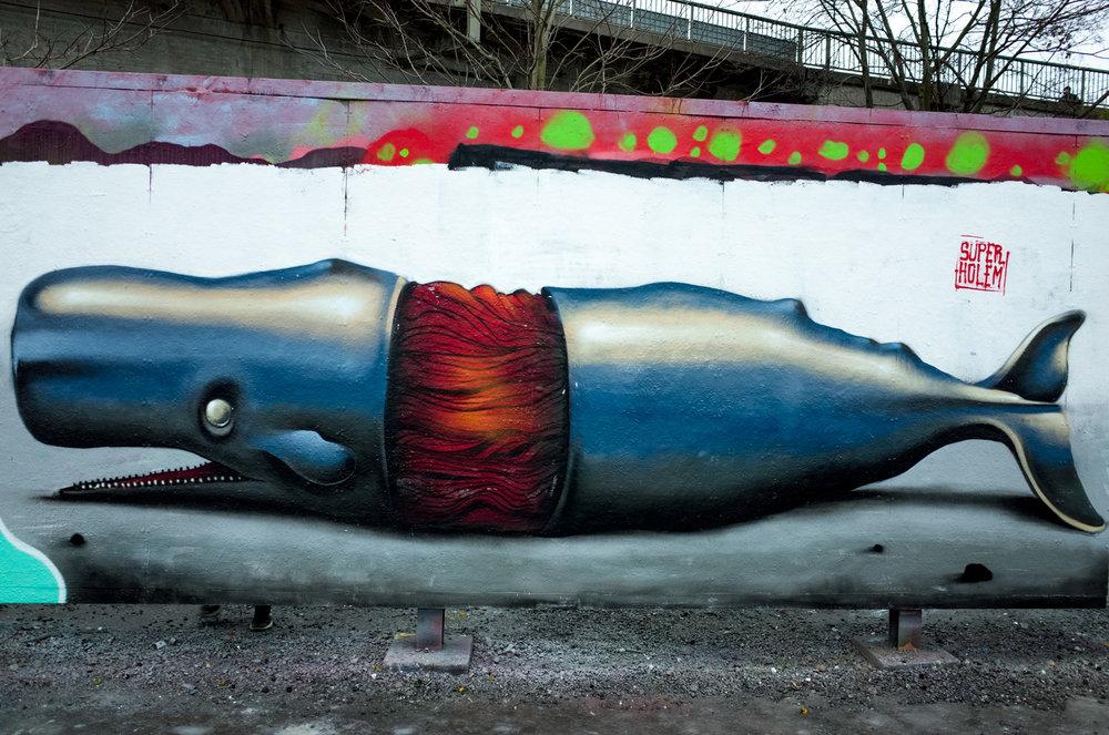 The whale - Tantolunden parc - Hornstull - 2017