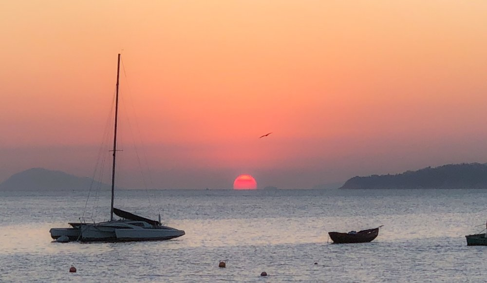 Sunset from Lamma Island on Jan. 14, 2018.
