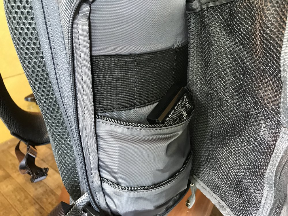 Seitenfach des Booq Slimpacks