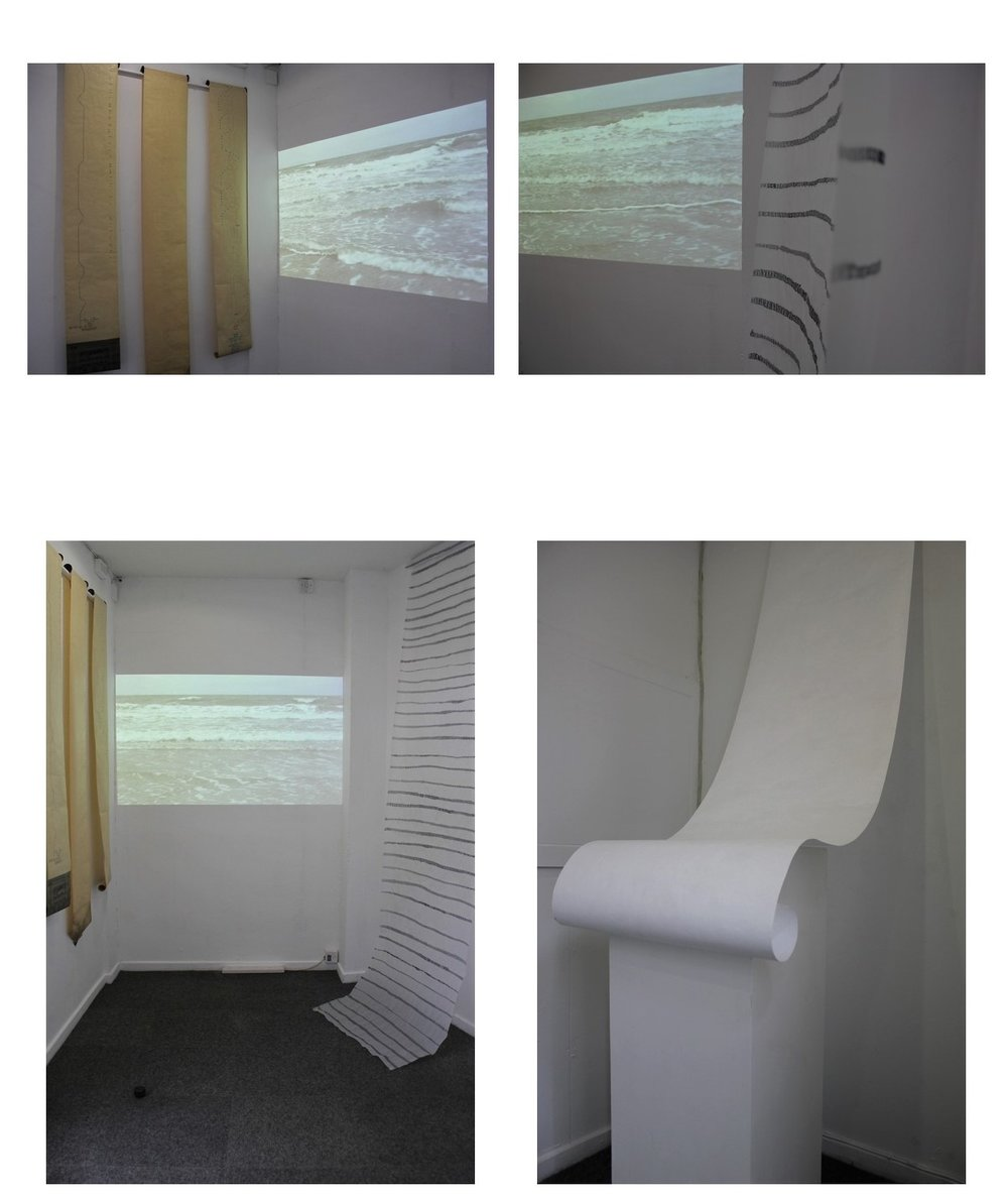 Installation views of S E A S C R I P T, Access Space, Sheffield (May 2017)