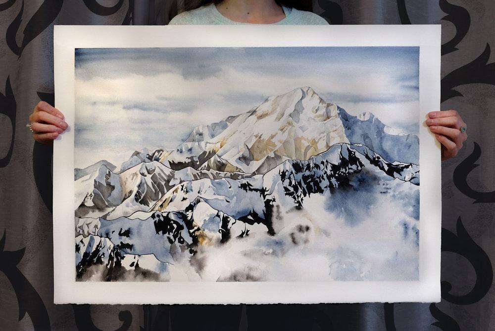 Me holding Mount Denali