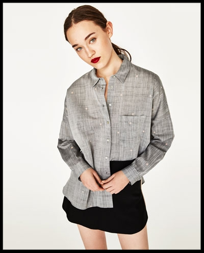 Zara Grey Blouse