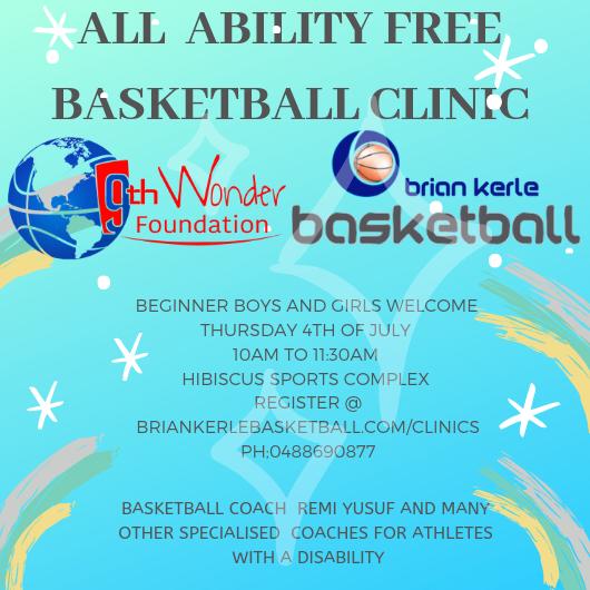 Brisbane Basketball Open Junior Clinic Camp