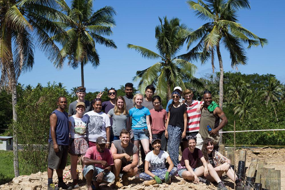 Naweni volunteers soaking up some sun on site!