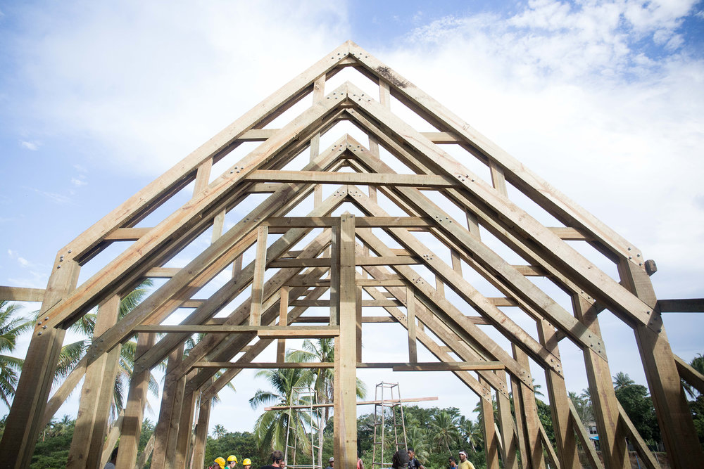 The frames standing tall at Naweni