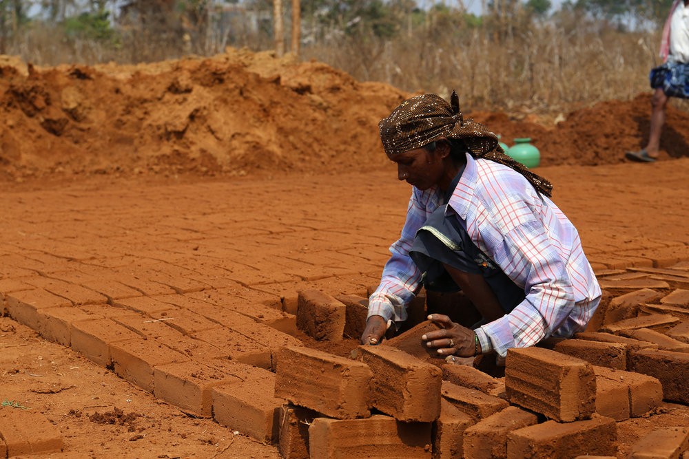A community enterprise brick maker