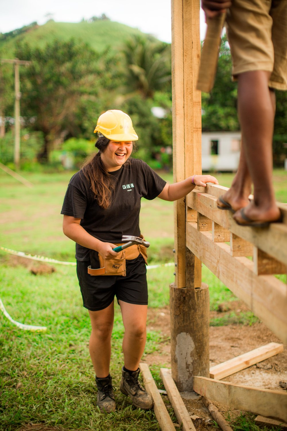 Project Manager Samantha. - Since impressing us as a Project Runner on the Savudrodro Community Hall project, Samantha has gone on to successfully project manage the Sierra Leone Slinky Playground in Massama, Sierra Leone.