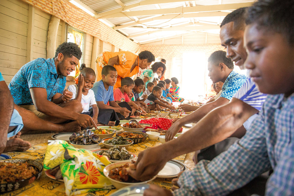 Fijian dinner parties involve LOTS of food