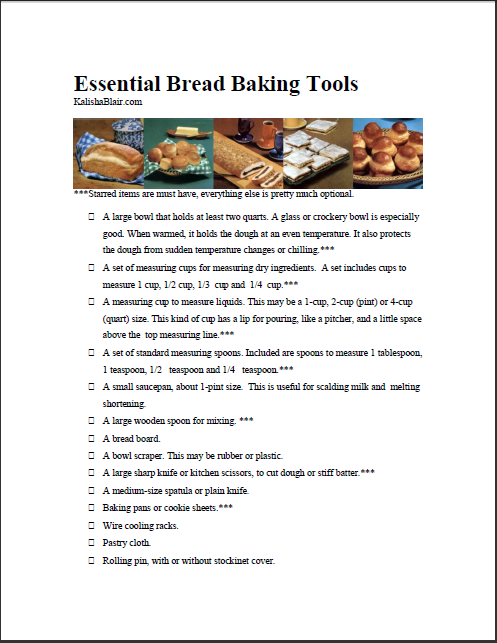 Bread Baking Tools
