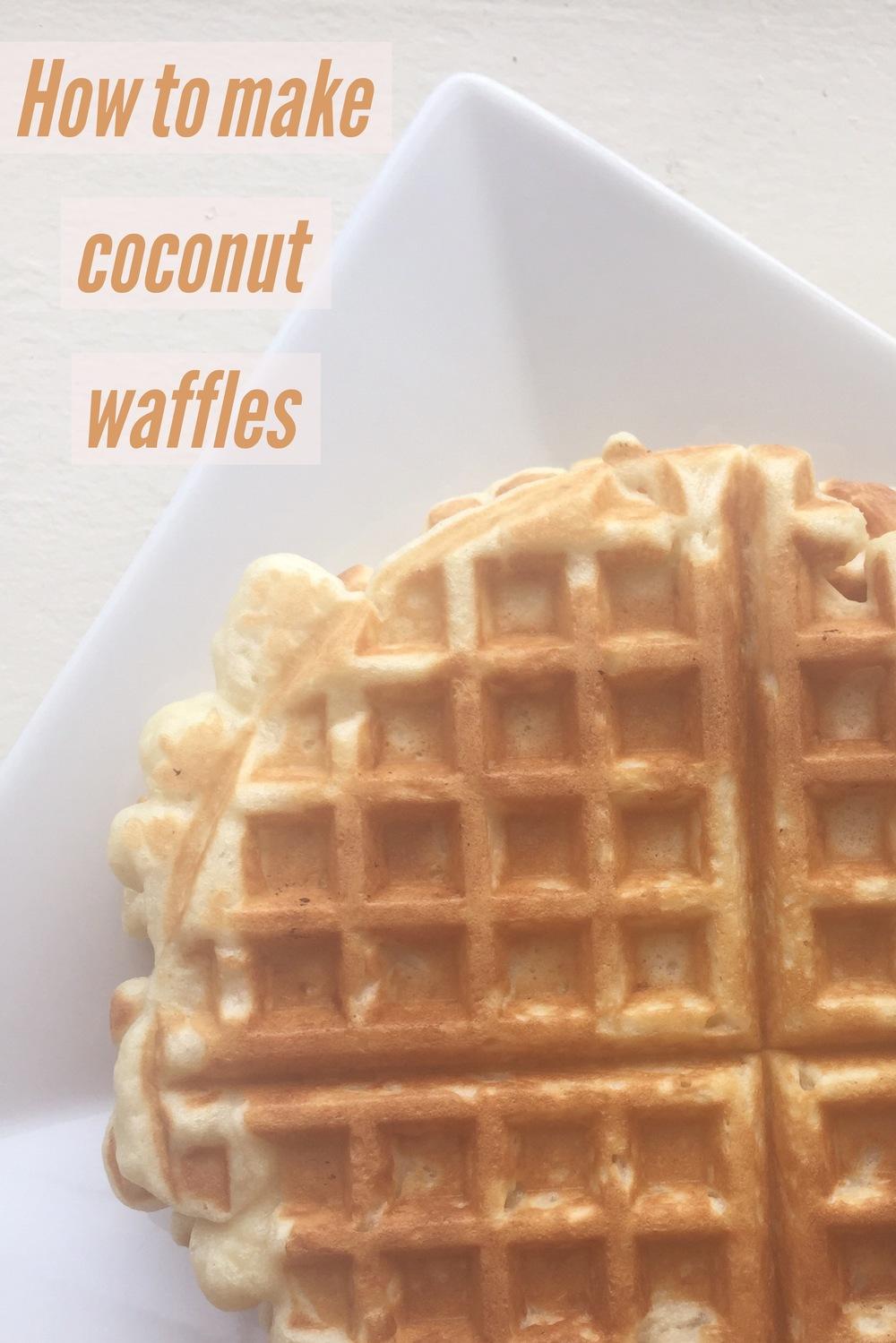 Homemade Coconut Waffles