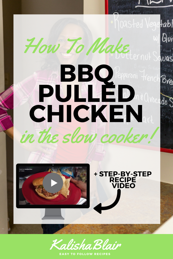 how to make slow cooker bbq pulled chicken