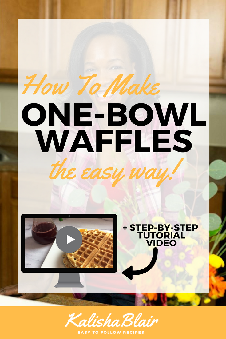 how to make waffles from scratch in one bowl