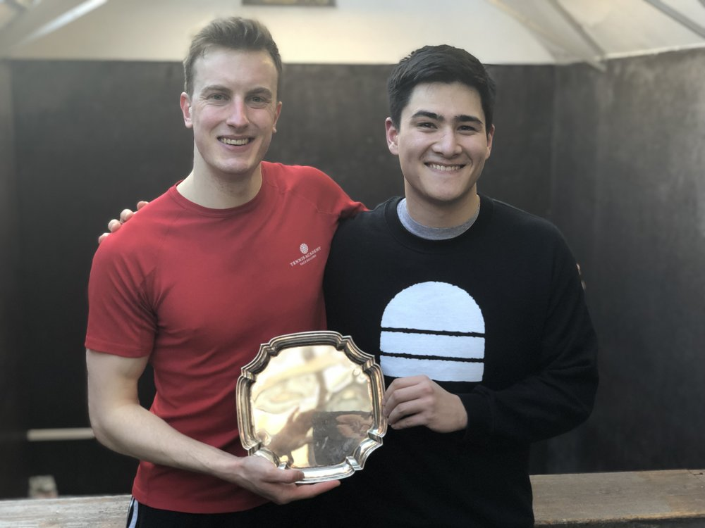 Ben Chua and James Smith- Winners of the main plate