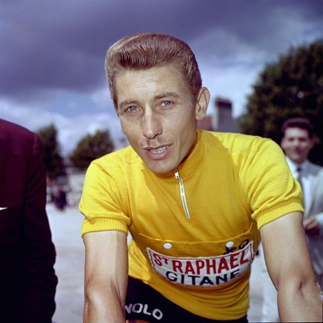 30 #years ago #anquetil one of the #greatest #pro #riders left the #rest of us behind once more #rip - - - - #output #cycling #outputcycling #tdf #letour #gitanes #st #raphael #peleton #frerejacques #training #personaltrainer #style #panaché