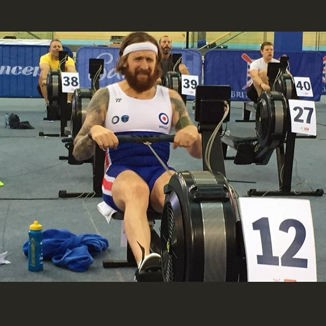 Recognize (some of) that face? Not easy with rest of bodycomposition. Wiggins sure can change... #wiggo - - - - #output #cycling #outputcycling #wiggins #rowing #pro #olympics #12 #teamuk #beard #training #fitness #tatoo #raffles
