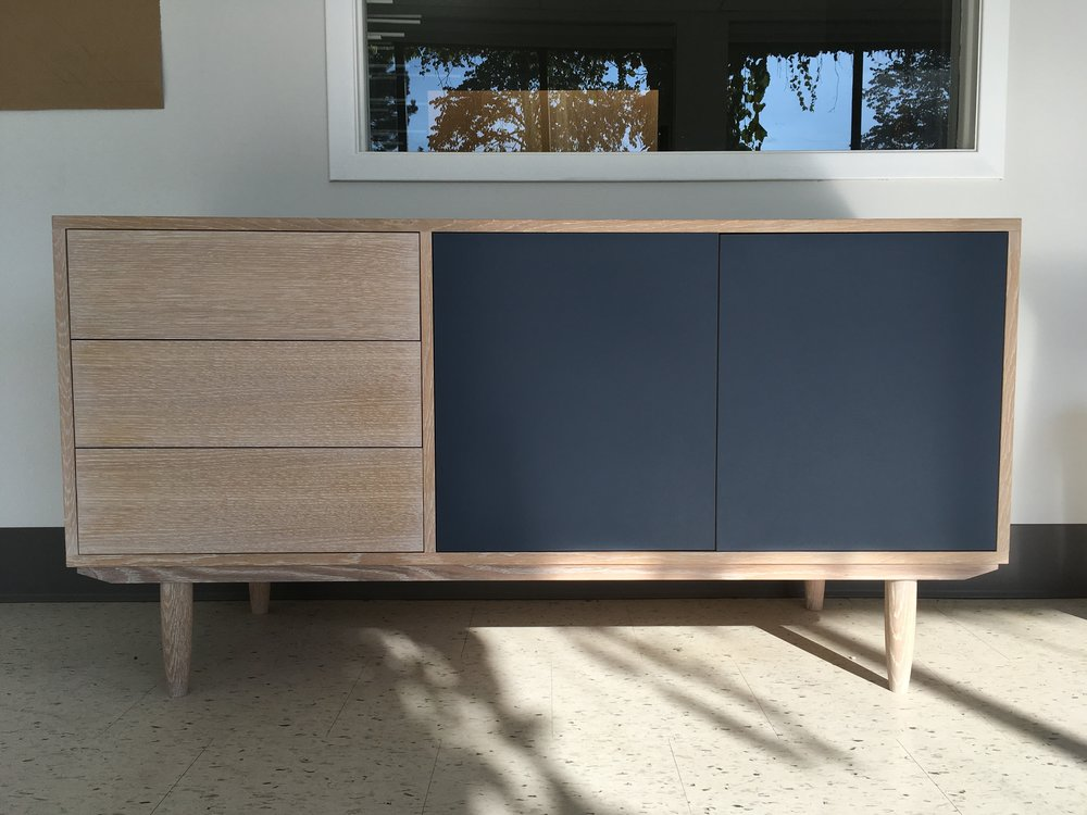 Sideboard 001 in white oiled oak