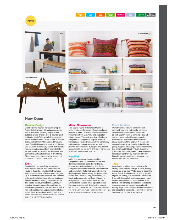 Designlines Magazine Toronto