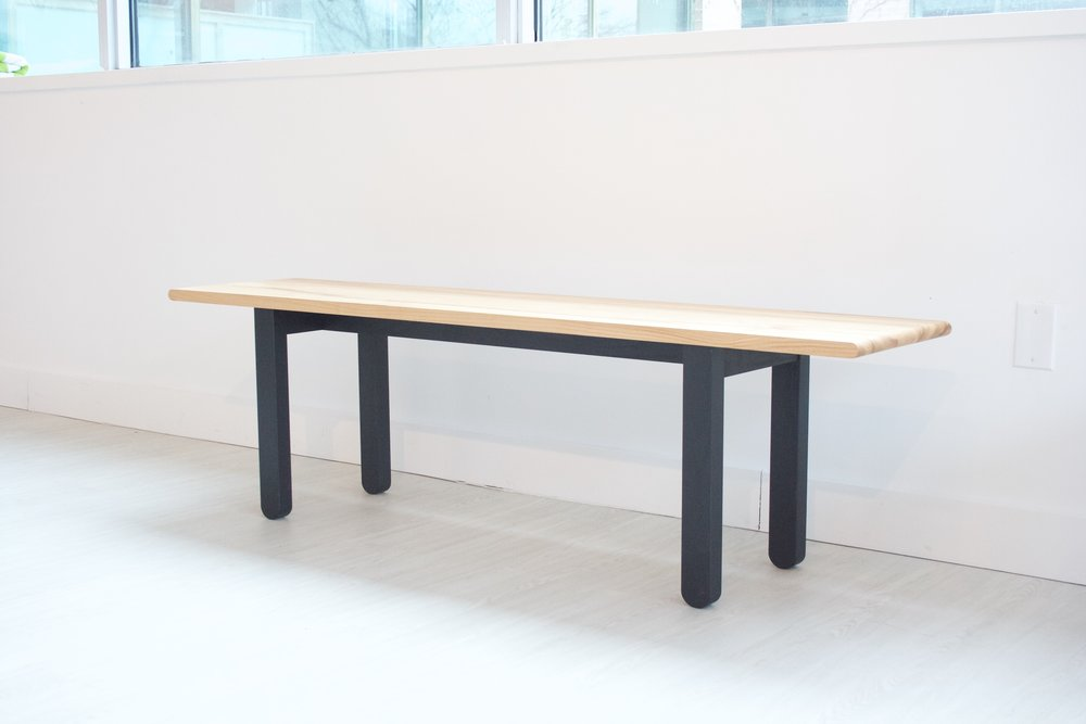 Black Base / Natural Top Bench - Sold