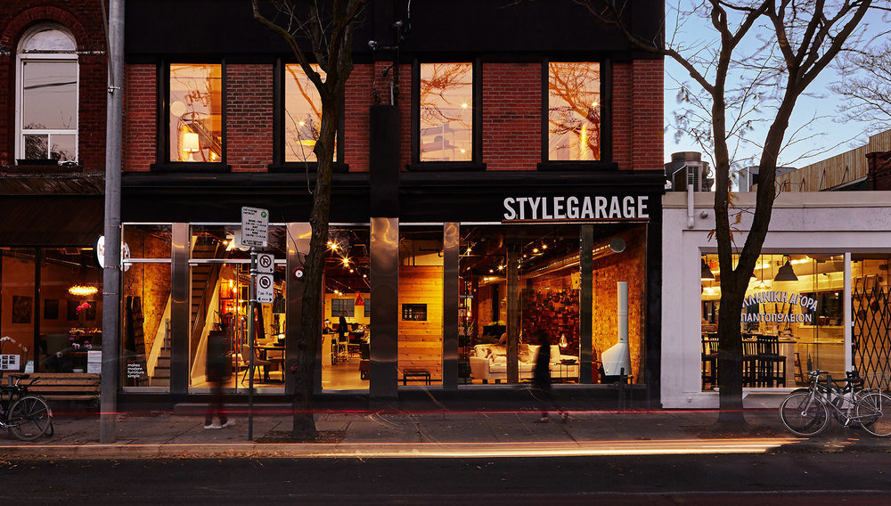 Style garage store front on Ossington