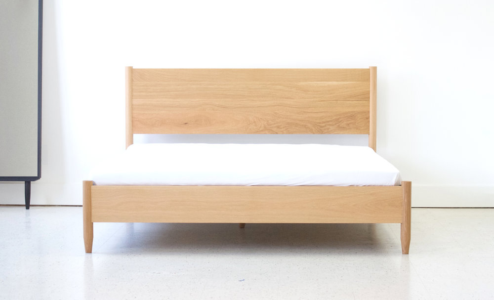 Modern White Oak Bed