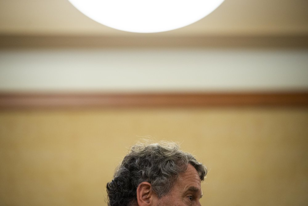 U.S. Senator Sherrod Brown campaigning for re-election in Athens, OH.