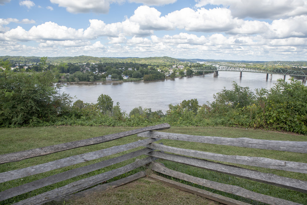 The view from Fort Boreman Park which overlooks the city of Parkersburg. Fort Boreman Park is a frequent stop for Calvin and his close friends while out riding.