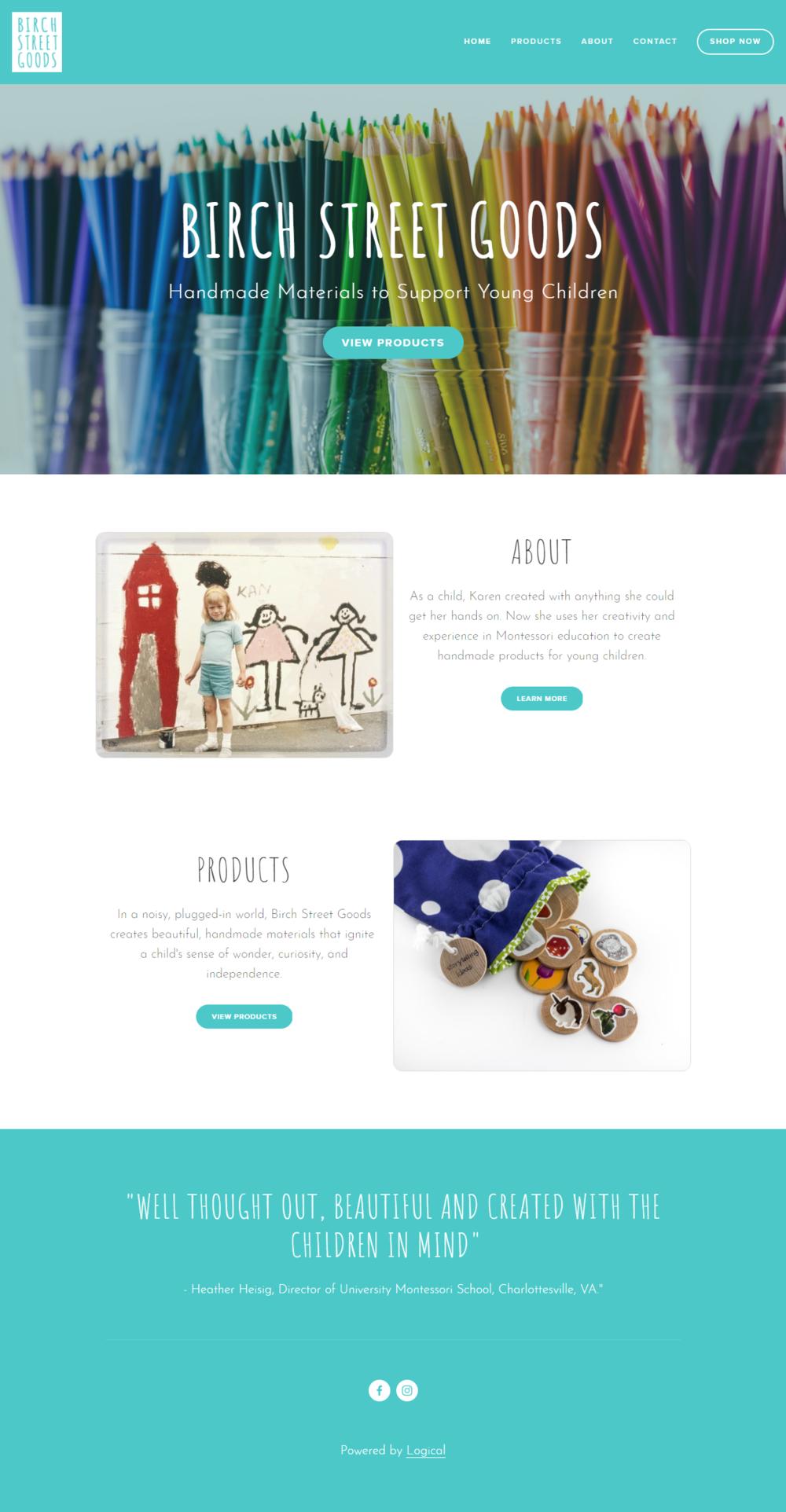 Birch Street Goods - handmade materials for young children