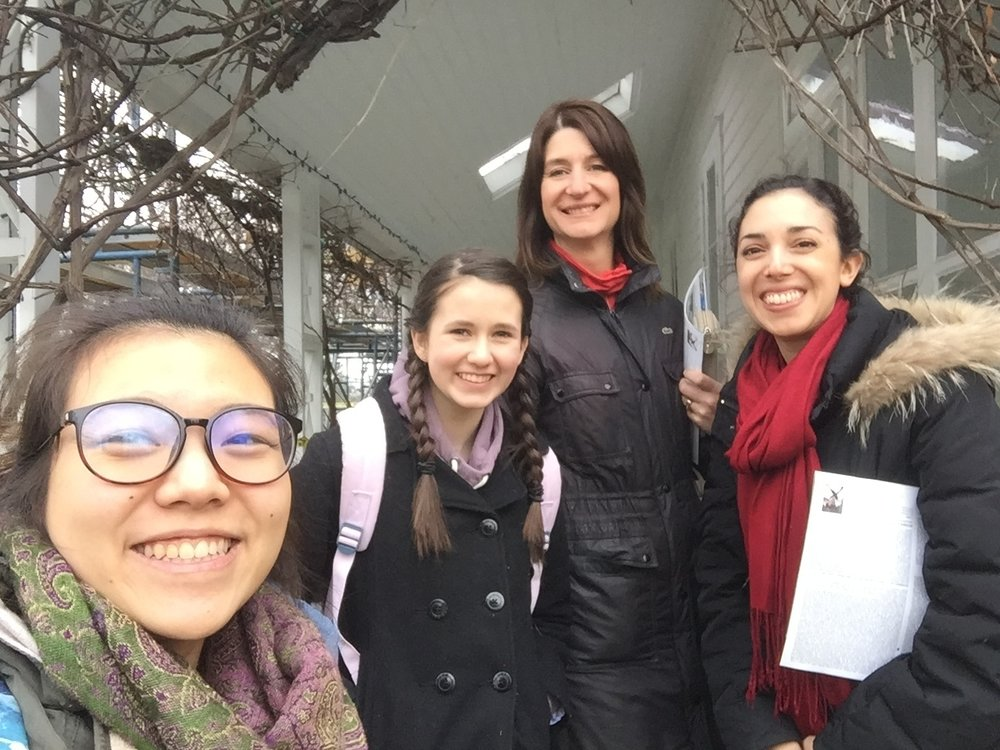 [Left to Right] Irene Paibulsirijit, Jordyn Taylor, Heather Weitzel and Maya Gupta visiting Eldon House.