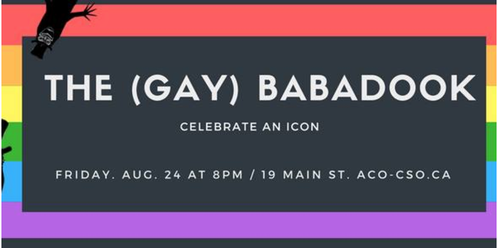 The (Gay) Babadook - 8:00 PM - 10:00 PM