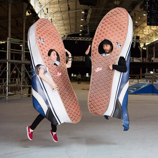 #flashback life size waffle soles at Downtown Showdown in Paris last summer!