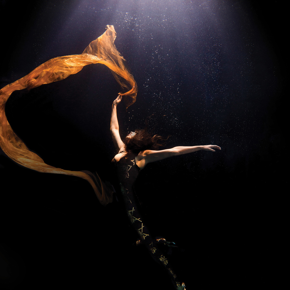Beautiful shapes created in this underwater photography showing a suspended in the deep. ©- Matt Porteous