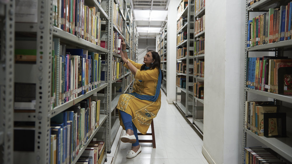 Arati Desai is the Head Librarian at the immaculate Nehru Centre Library in Worli.