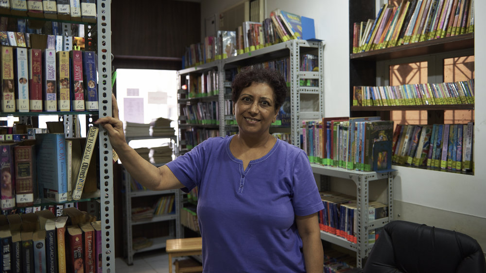 Vandana Dutia is a qualified Librarian at this family run neighbourhood lending library in Andheri West.