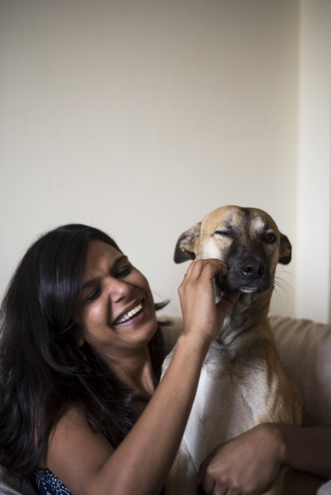 Smita Gupta and Scrappy Doo