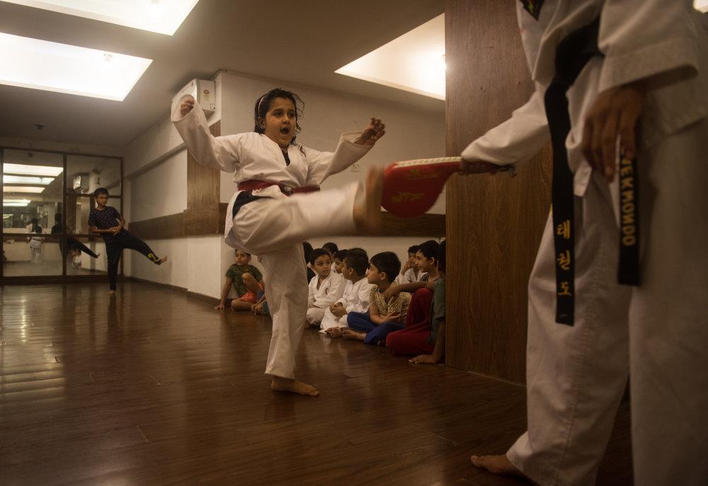 At the Taekwondo Martial Arts Class, KDS Learning Centre, Versova
