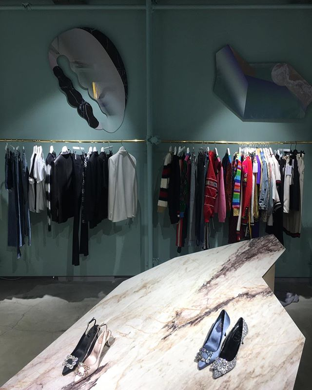 Very Soon! New installation @luisaviaroma designed by me curated by @valentinag_o and produced by @fiammettav_  and @alivar.it.  #fashion #fashionstore #florence #italianshoes #storedesign