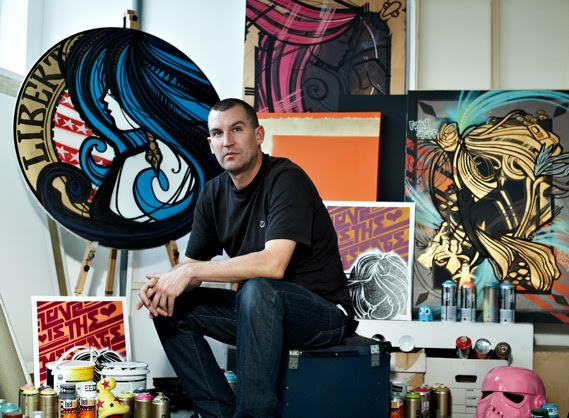 Inkie in his studio